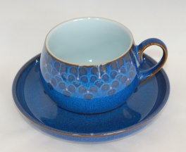 Denby Midnight Tea Cup and Saucer & Discontinued Denby Midnight in stock now - buy online