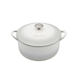 Denby Cast Iron Natural Canvas 24cm Round Casserole