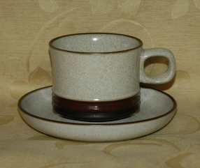 Denby Potters Wheel  Tea Cup and Saucer