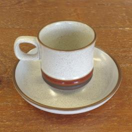 Denby Potters Wheel  Coffee Cup and Saucer