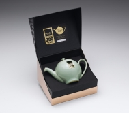 Denby Pure Green Bicentenary One Cup Teapot (Boxed)