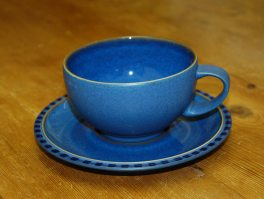 Denby Reflex Blue Breakfast Cup and Saucer