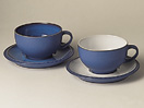 Denby Reflex White Breakfast Cup and Saucer