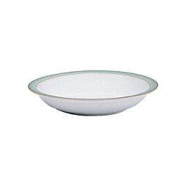 Denby Regency Green Discontinued Shallow Rimmed Bowl
