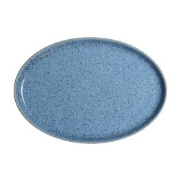 Denby Studio Blue Flint Medium Oval Tray