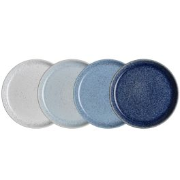 Denby Studio Blue  Medium Coupe Plates - set of 4
