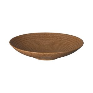Denby Studio Craft Chestnut Medium Ridged Bowl