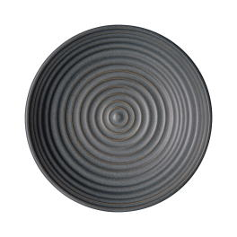 Denby Studio Grey Charcoal Small Ridged Bowl