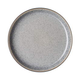 Denby Studio Grey  Coupe Dinner Plates - set of 4