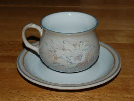 Denby Tasmin  Tea Cup and Saucer