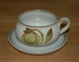 Denby Troubadour  Breakfast Cup and Saucer