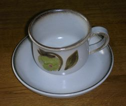 Denby Troubadour  Tea Cup and Saucer