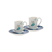 Denby Monsoon Veronica  Espresso Cup and Saucer x 2 in Gift Box