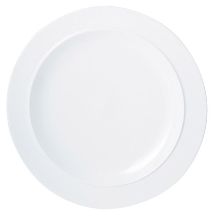 Denby White  Extra Large Wide Rimmed Plate
