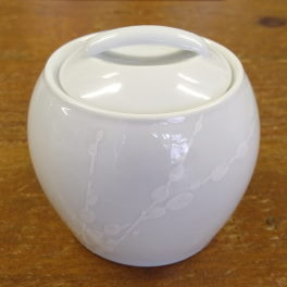 Denby White Trace  Covered Sugar