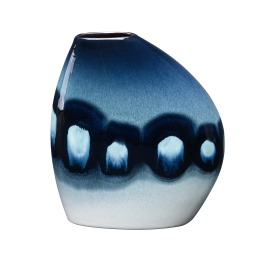 Poole Blue Orchid  Asymmetrical Bean Vase