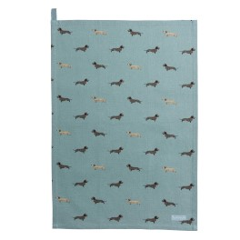 Sophie Allport Dachshund  Tea Towel - Cotton