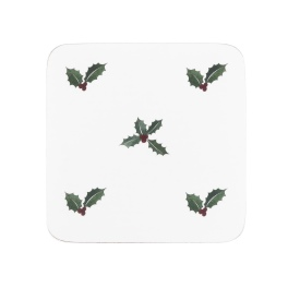 Sophie Allport Holly & Berry  Coasters - Set of 4