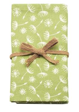 Walton Dandelion Avocado Napkins - Set of 4