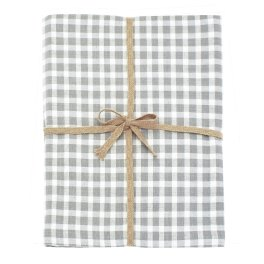 Walton Portland Check Dove Grey Tablecloth - Large