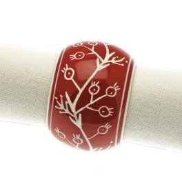 Walton Christmas Berries Claret Napkin Rings - Set of 4