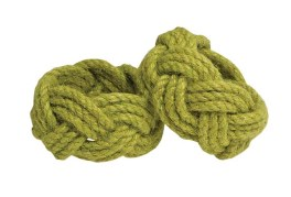 Walton Rope Avocado Napkin Rings - Set of 4