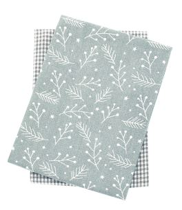 Walton Snowberries Grey Tea Towels - Set of 2