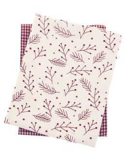 Walton Snowberries Red Tea Towels - Set of 2