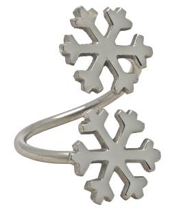 Walton Christmas Double Snowflake Napkin Ring